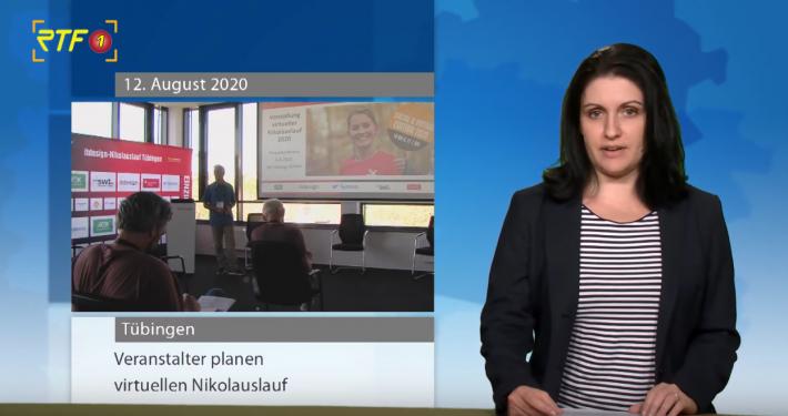 RTF1 Fernsehen Video Beitrag Pressekonferenz Vorstellung virtueller Nikolauslauf 2020