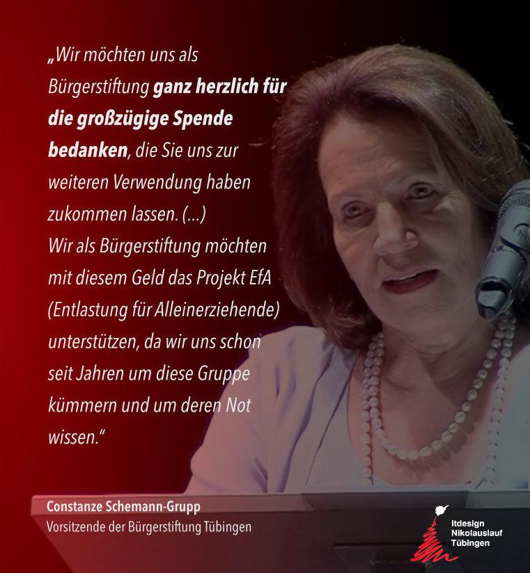 Tübinger Nikolauslauf Scheckübergabe Spendenaktion Sozialpartner Bürgerstiftung